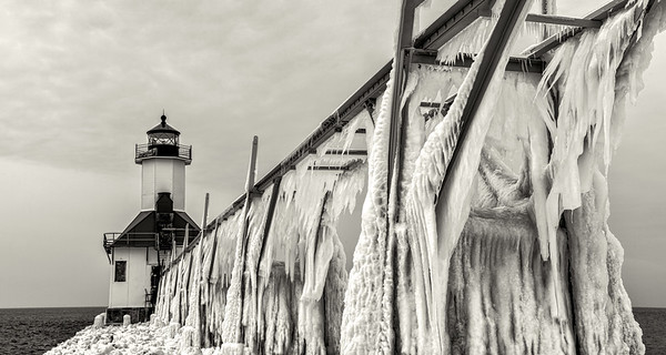St Joe's Lighthouse #2 (B&W)