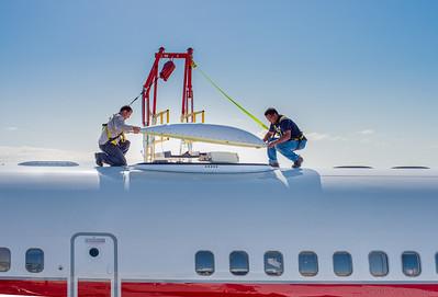 Aircraft SATCOM Internet Installation