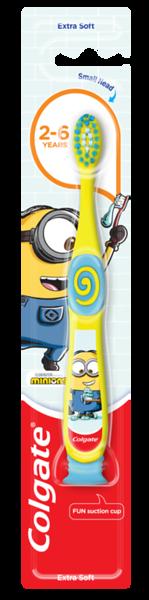 607299COLGATE hambahari Kids Minions/Trolls (2-6 aastat) extra soft12*1tk5900273150035