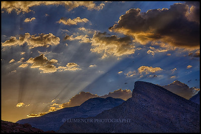 Sunset over Spring Mountains, Nevada.