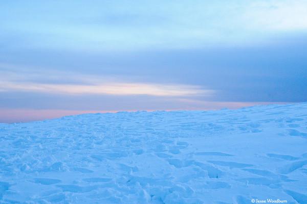 Winter Sunset on Sandia Crest