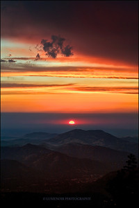 Sunset In Sequoia National Park