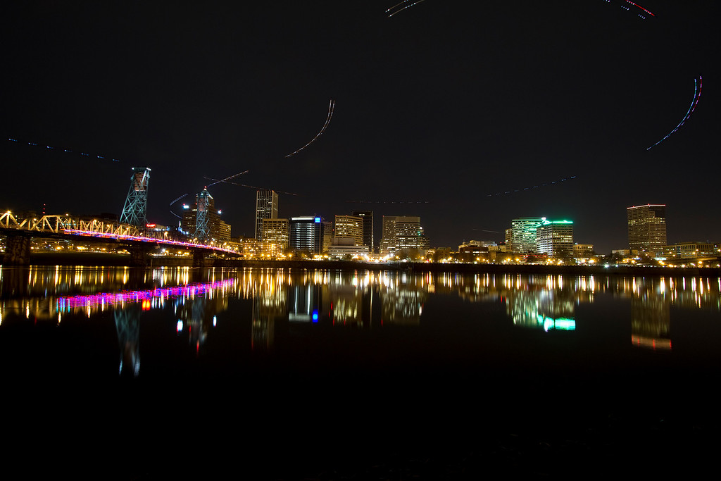 Busy Night In Portland