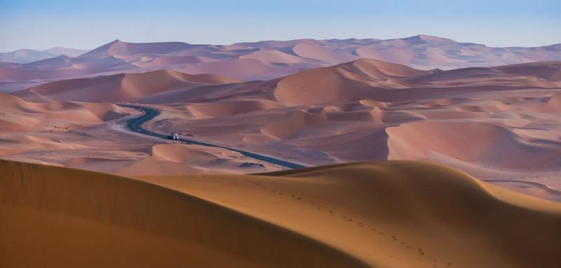 Morning light in the dunes Liwa, UAE
