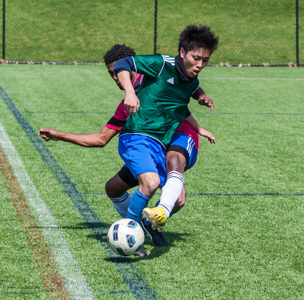Penn State ISC 2013 Spring Soccer Tournament, H-Squad (mostly Africa) (green) vs Saudi Arabia, University Park, PA