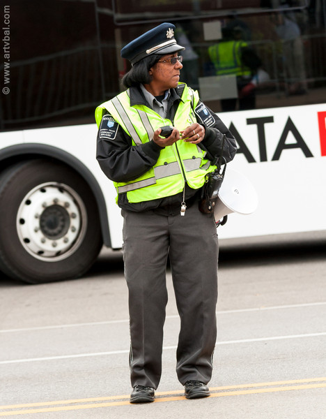 Penn State Traffic Officer at Football Day – Penn State VS Ohio, October 27, 2012, State College, PA
