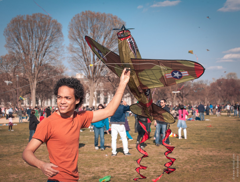 Cherry Blossom Kite Festival, End of March 2013, Washington, DC.