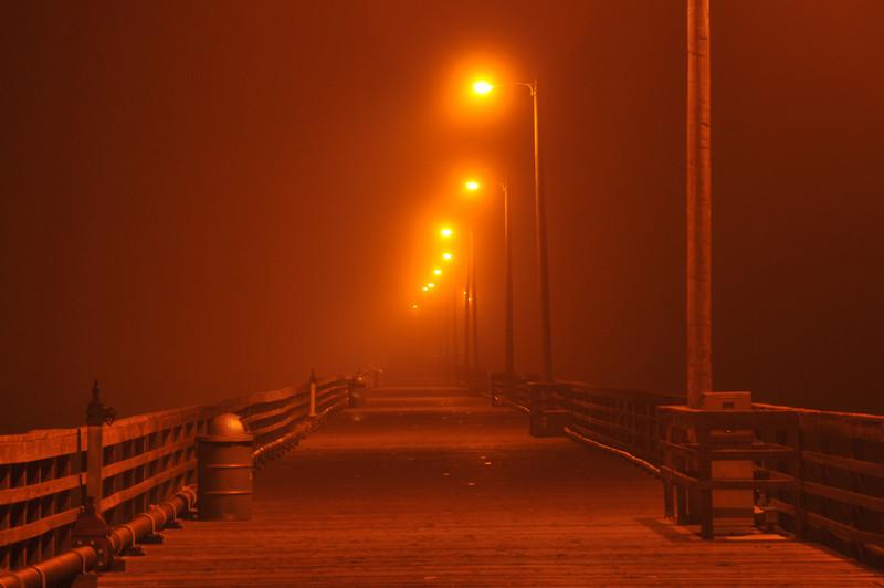 Avila Beach Pier, midnight