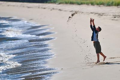 Boy on the Beach, Angel Island, California