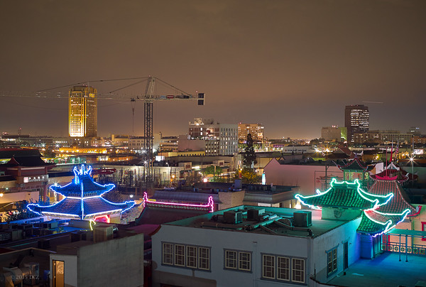 LA China Town at Night