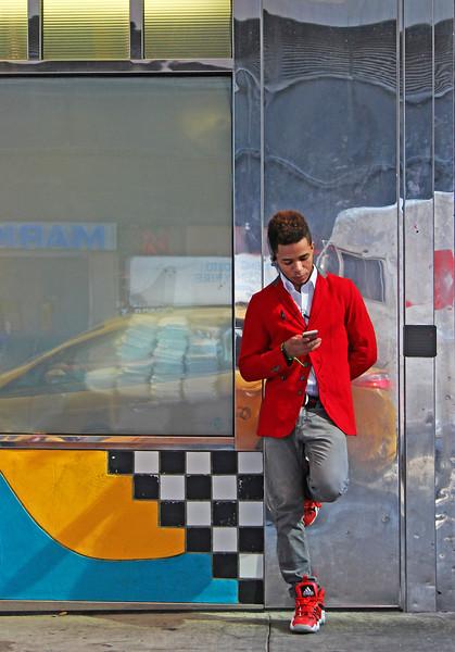 Red coat, NYC