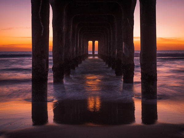 Under the Manhattan Beach Pier