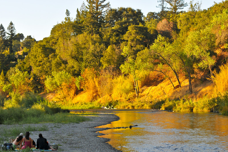 Russian River, just before sunset.  Colors as shot.