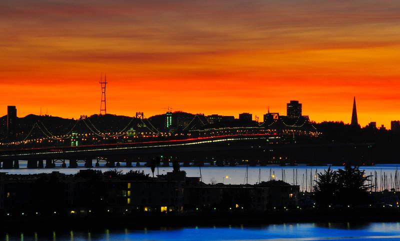 San Francisco Bay Bridge, from Emeryville.