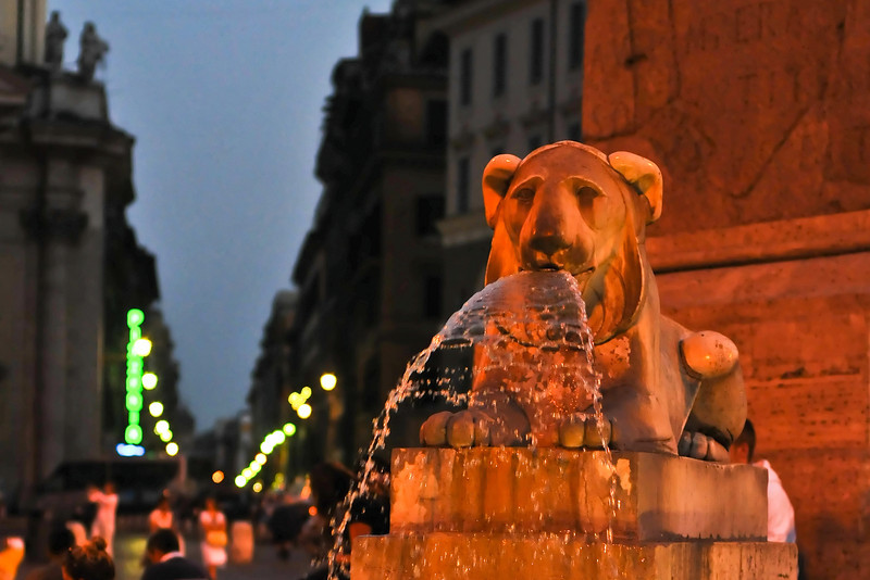 Fountain, Piazza Popular, Italy