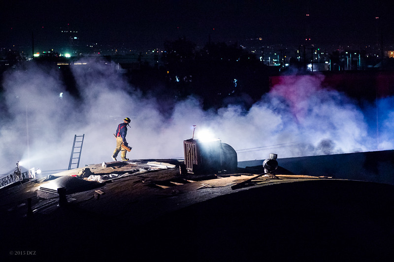Firefighter on Rooftop