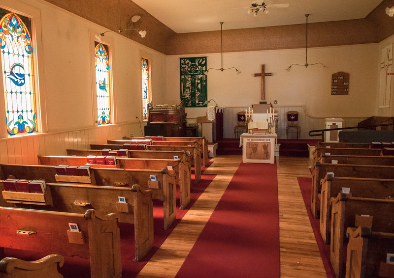 Interior of Community Presbyterian Church
