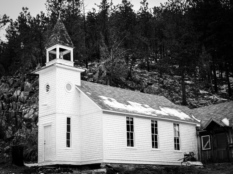 Little Church in the Pines, Salina, Colorado, 1902.