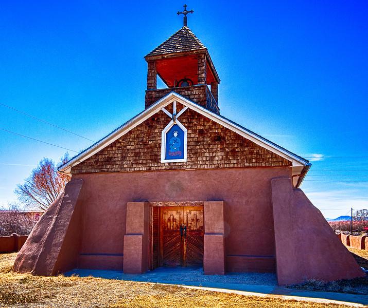 """Capilla (chapel) de Viejo San Acacio, old (viejo) San Acacio, Colorado 1859.  Oldest standing church in Colorado -- <a href=""""http://www.waymarking.com/waymarks/WMGPK6_Capilla_de_Viejo_San_Acacio_San_Acacio_CO"""" >Read More</a>"""