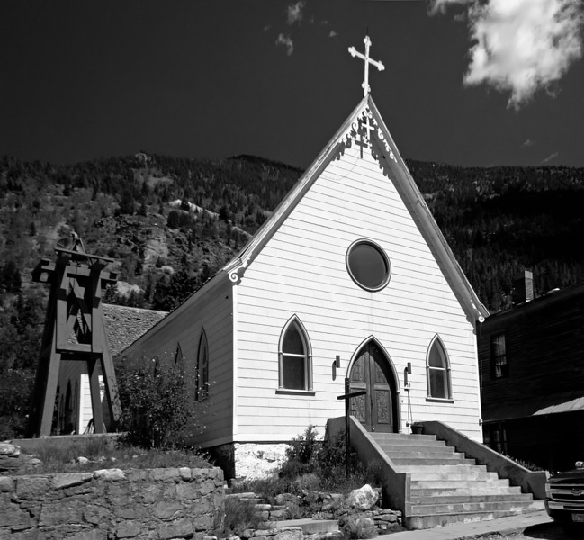 St. Patrick's Catholic Church, Silver Plume, Colorado, now a private residence.