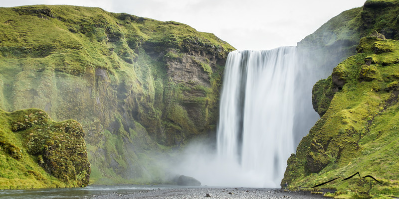 Skogafoss, on the south coast of Iceland.