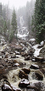 Spring Snow at Fish Creek Falls