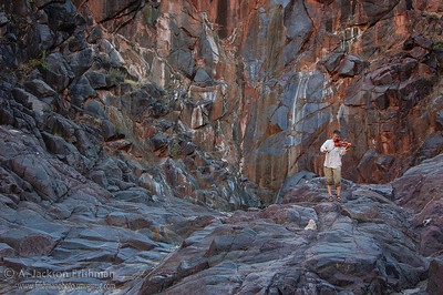 Music and Vishnu schist in the bottom of the Grand Canyon.