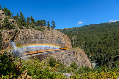 Durango & Silverton Railroad at Highline, Colorado