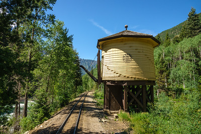 Water tank, along the Durango & Siverton Narrow Gauge Railroad, Colorado