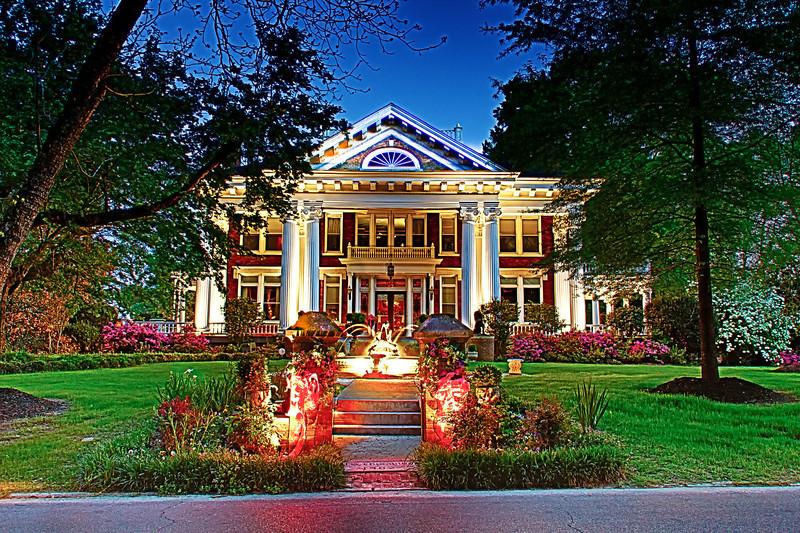Lindamood Mansion Night