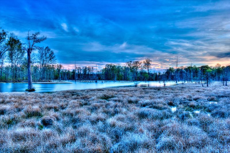 Swamp Sunset 4 photomatix
