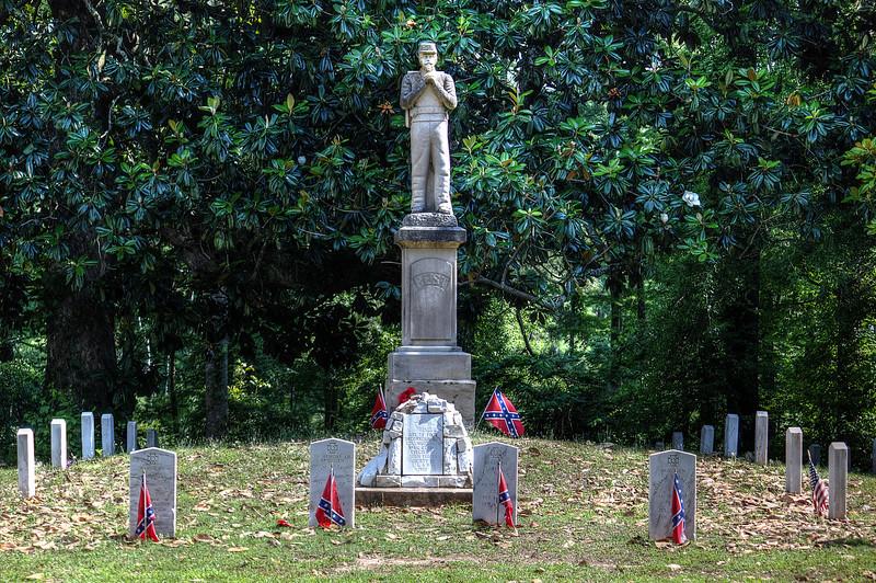Columbus, Mississippi Friendship Cemetery The start of Memorial Day.  HDR 3 photos -2 0 +2 Canon T2i Manual AV 5.6