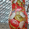 Giant Matryoshka wooden painted dolls in Moscow Russia
