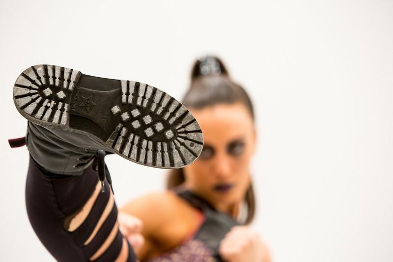 Kick boxer action photography