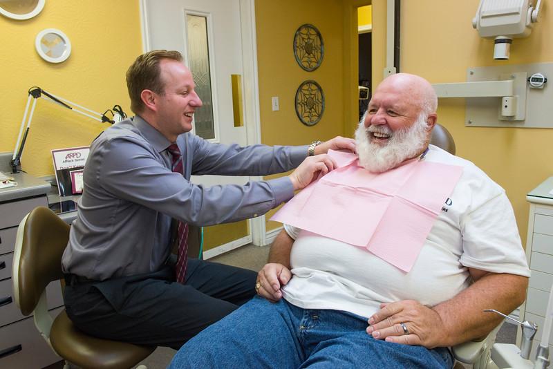 Michael Affleck - Prosthodontics <br /> John Snider- dental patient<br /> Triston Robinson- dental assistant