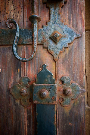 """""""Heavy Front Door at Ackergil, Scotland"""""""