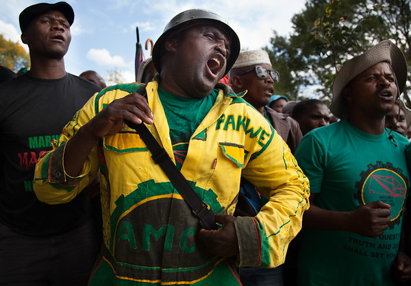 3 April - Amcu marches to Lonmin offices in Melrose Arch, Johannesburg.