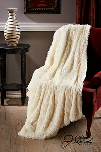 Long-Shag Faux Fur Throw...