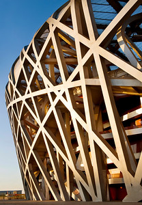 Beijing Olympics Bird's Nest Detail.