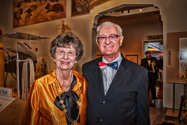 Shaie Williams for AGN Media. Diana Cox with Winston Stahlecker at the Black Gold  Ball 2016 held at the Panhandle Plains Historical Museum  in Canyon, TX. on April 16, 2016.