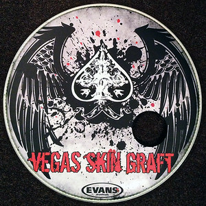 Bass drum head for Nashville based rock band