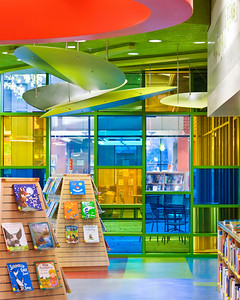 "Willow Glen Library, San Jose, CA. Krong Design, Inc, JCA, Book Cover ""Countdown to a new library""."