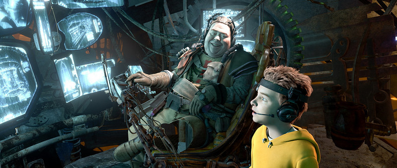 """MARS NEEDS MOMS""<br /> <br /> Film Frame<br /> <br /> Gribble (left), Milo (right)<br /> <br /> ©ImageMovers Digital LLC.  All Rights Reserved."