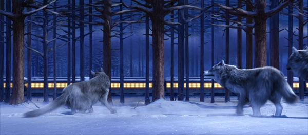 Film: The Polar Express (2004)<br /> VFX Co: Sony Pictures Imageworks<br /> Sequence: Ticket Ride (TK02)<br /> Work done: Lookdev'd snow, trees, rocks. Lighting on environment and wolves. Initial compositing.