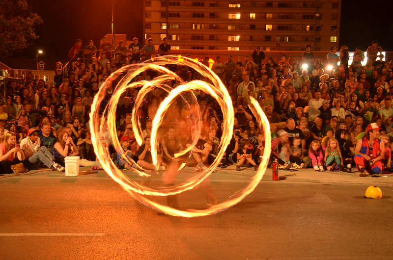Buskers Fire Show