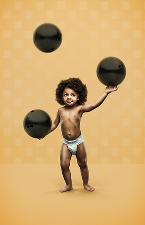 Strong Babies - Bowling Ball Juggling