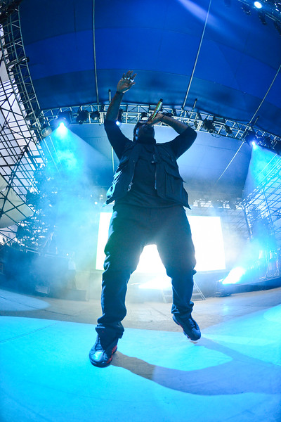 King Chip performs at Pioneer Park On thursday evening. In Salt Lake City. On August 22, 2013