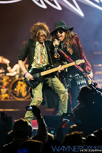 Aerosmith performs at the MGM Grand Garden Arena