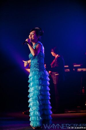 Cecilia Fong performs during the Harvest Moon Festival at the Riviera Casino