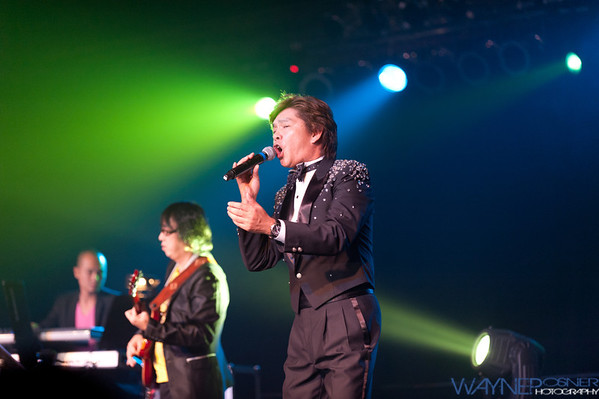 Peter Chan performs during the Harvest Moon Festival at the Riviera Casino